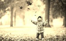 happy-cute-child-in-autumn-park-wallpaper-53d04cf93b804 sepia