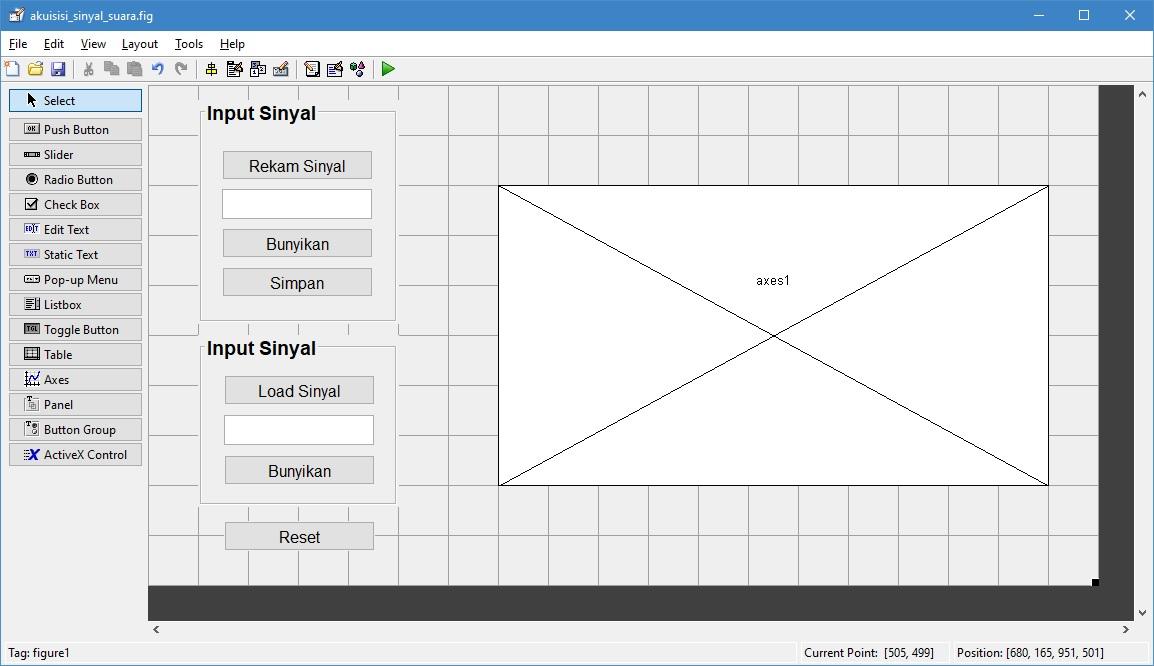 Pemrograman matlab pengolahan citra digital pengolahan video langkah langkah pemrogramannya yaitu 1 membuat interface gui dengan desain tampilan seperti pada gambar di bawah ini ccuart Images